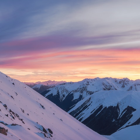 NZ Snow - Snow in New Zealand, south island. Canterbury ranges, Canterbury high country, club fields and castle hill mostly.