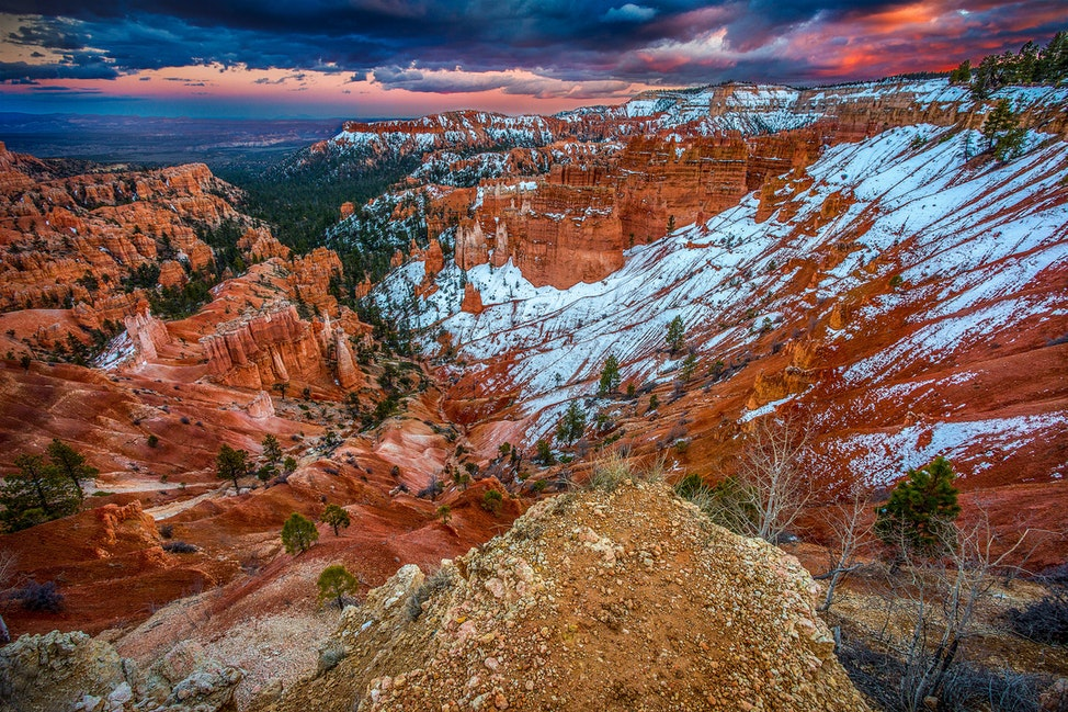 Ignite, Bryce Canyon National Park - Never have I seen a park quite like Bryce Canyon National Park, but with a light dusting of snow is by far the most...