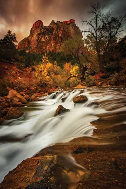 The Ruby Crown, Zion National Park - A day in Zion National Park is like a day spent without the constraints of time. I lose myself among the towering...