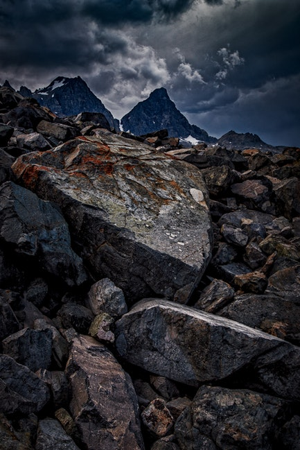 Mountain Bones, Sierra Nevada Mountains, California - Sierra Nevada Mountains near Mount Ritter and Mount Banner. Storm light is one of my favorite conditions...