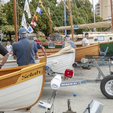 Boats Ashore 2019 - Boats displayed on land around the docks, at the Australian Wooden Boat Festival 2019