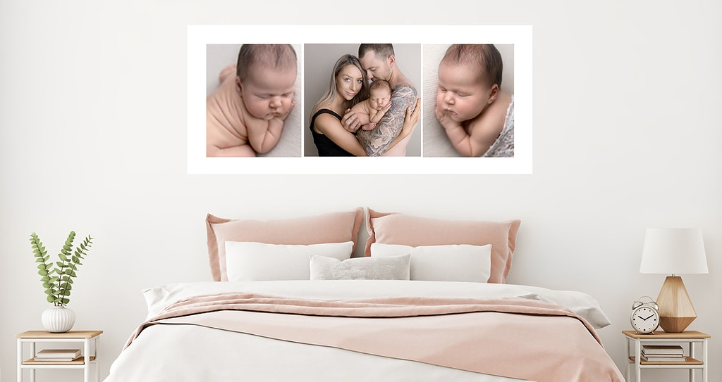 wall displays newborn - newborn photos Adelaide. Wall displays baby photographer. Melissa Alagich Photography