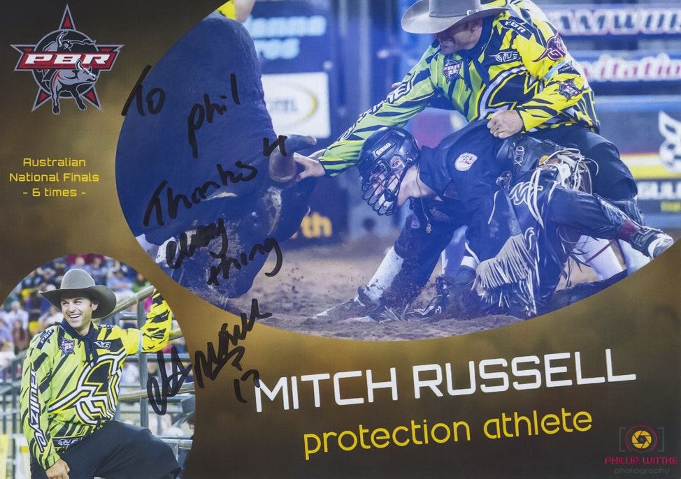 Mitch Russell Autograph Card