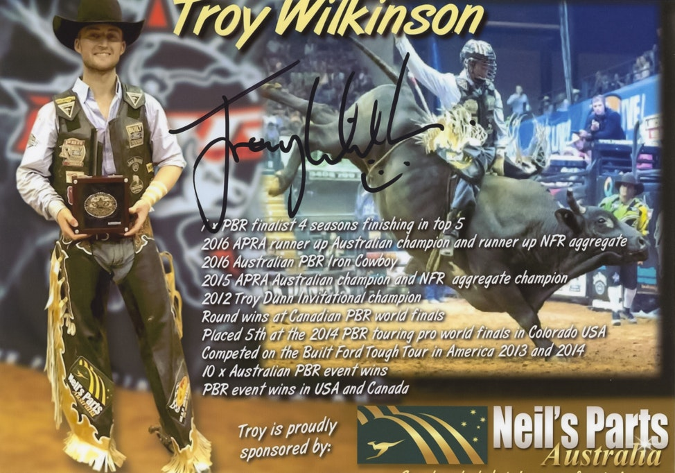 Troy Wilkinson Autograph Card