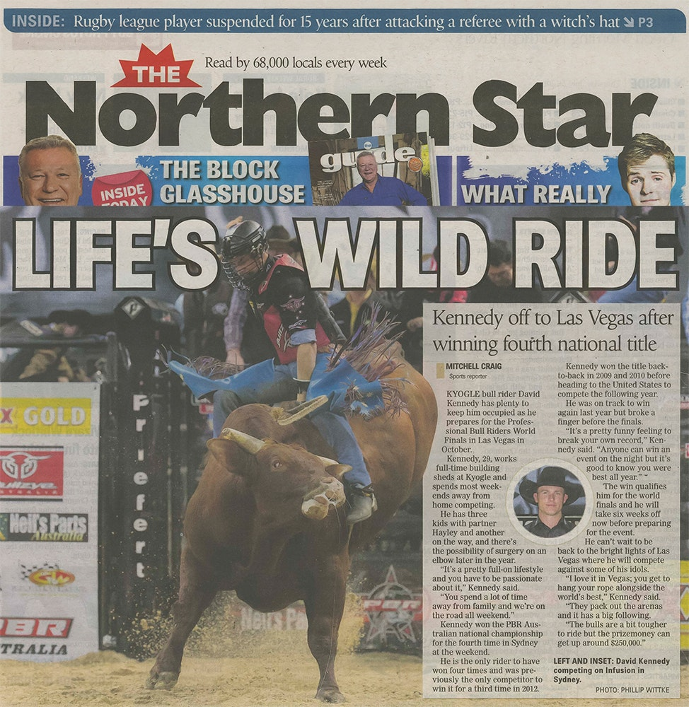 Northern Star Newspaper - David Kennedy
