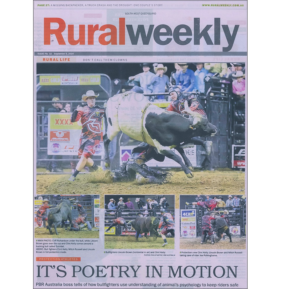 Rural Weekly Newspaper - Bull Fighters