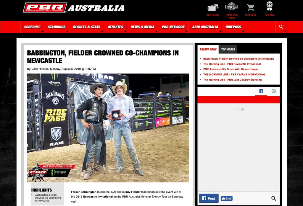 PBR Newcastle Invitational - 03.08.2019