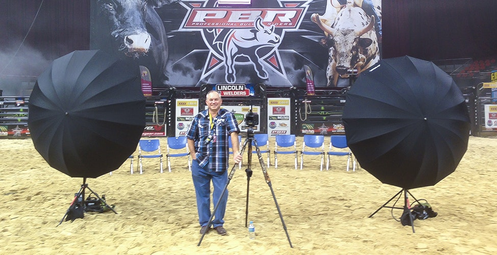 PW - PBR - Setting up to take the Cowboy Team photo at the PBR Australian National Finals. Allphones Arena | Sydney Olympic Park