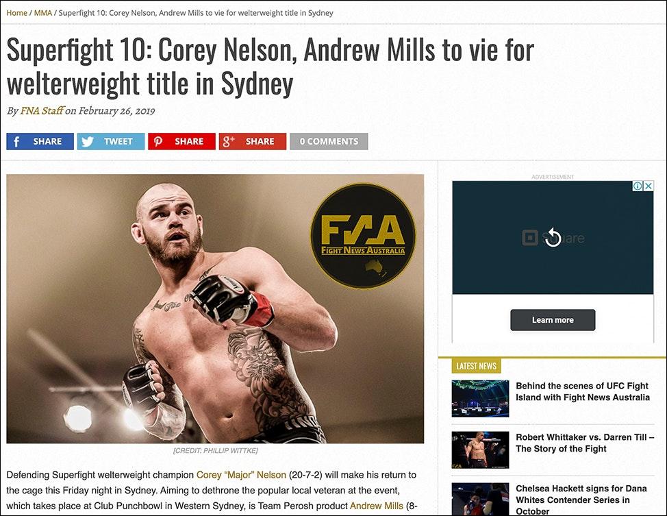 Fight News Australia