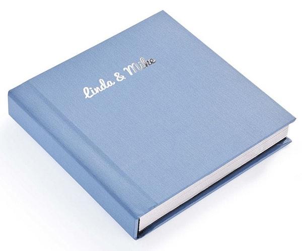 Album Linen Blue Silver Foil