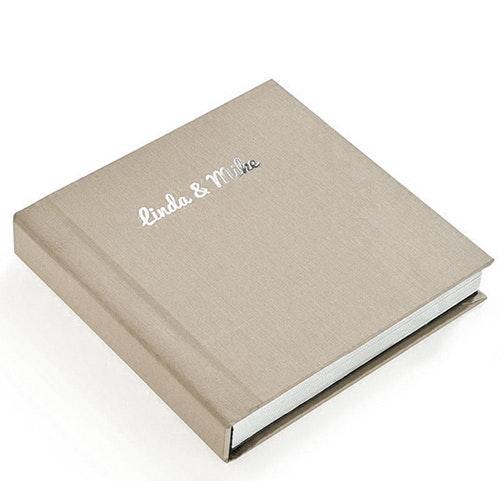 Album Linen Blue Silver Foil 2