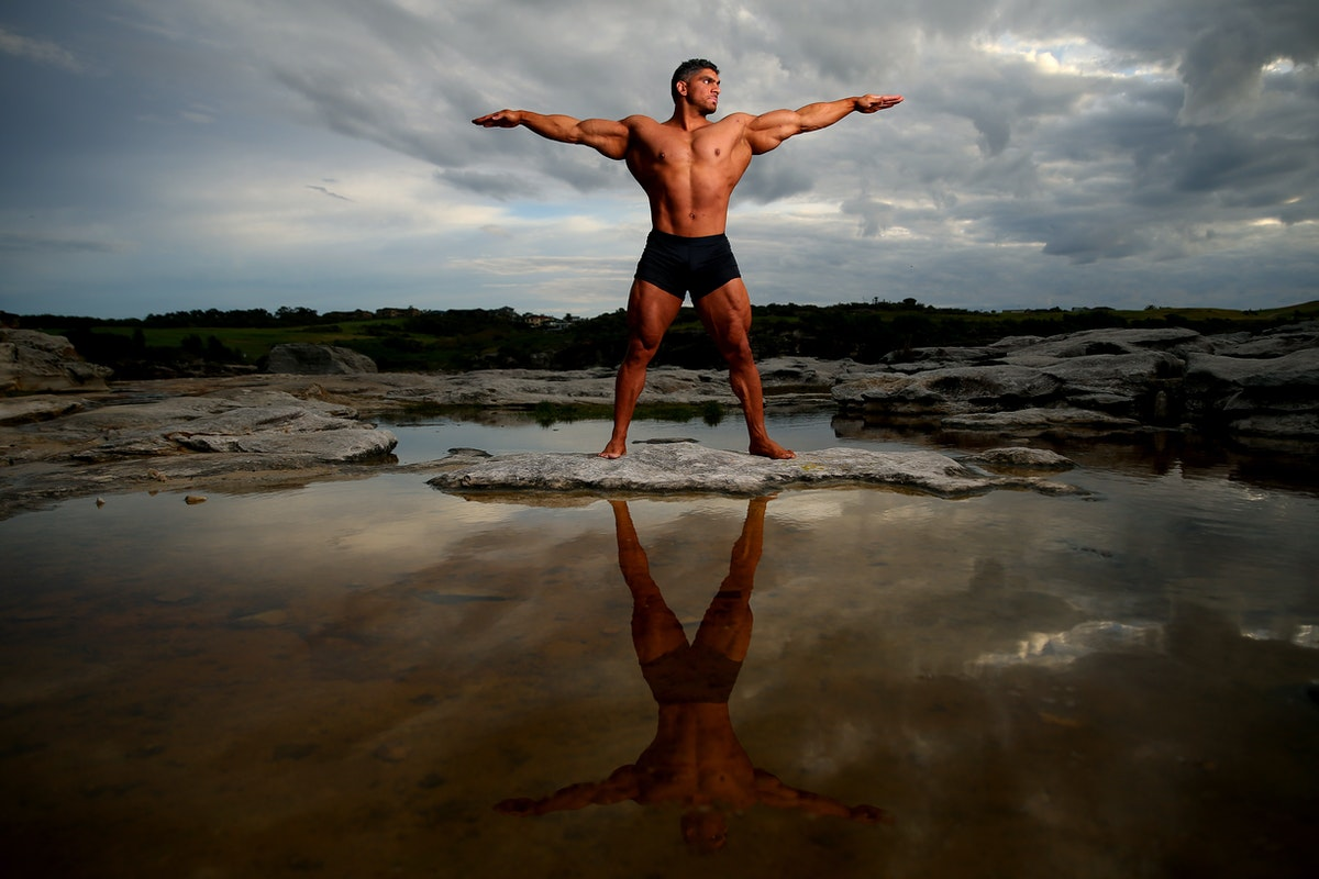 A36O8160_20200531104030517 - SYDNEY, AUSTRALIA - MAY 31: Chris Kavvalos poses during an early morning photo shoot at  Little Bay on May 31, 2020 in Sydney,...