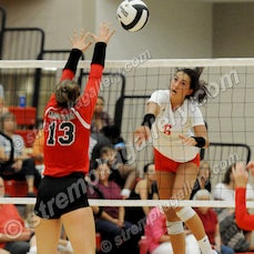 Munster vs. Crown Point - 8/15/18 - View 49 images from the Munster vs. Crown Point Volleyball match of 8/15/18.  Crown Point was a four set winner.