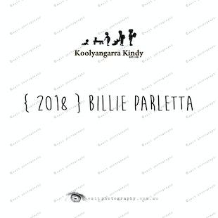{ 2018 } Billie PARLETTA