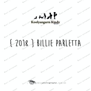 { 2018 } Billie PARLETTA