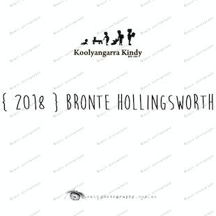 { 2018 } Bronte HOLLINGSWORTH