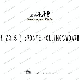 { 2018 } Bronte HOLLINGSWORTH