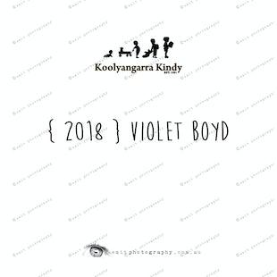 { 2018 } Violet BOYD