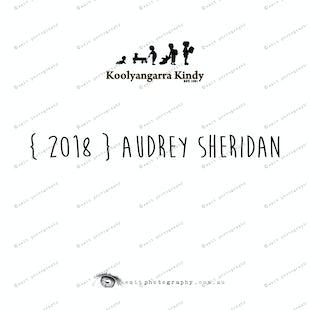 { 2018 } Audrey SHERIDAN