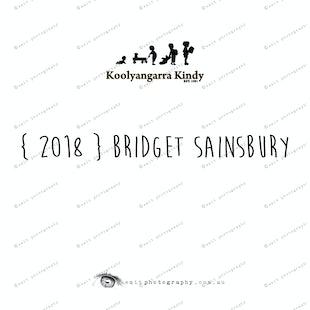 { 2018 } Bridget SAINSBURY