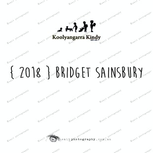 { 2018 } Bridget SAINSBURY