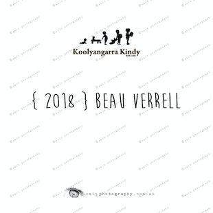 { 2018 } Beau VERRELL
