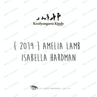 {2019} AMELIA LAMB and  ISABELLA HARDMAN