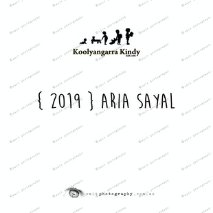 {2019} ARIA SAYAL