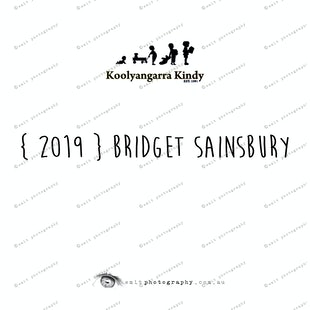 {2019} BRIDGET SAINSBURY