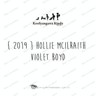 {2019} HOLLIE MCILRAITH & VIOLET BOYD