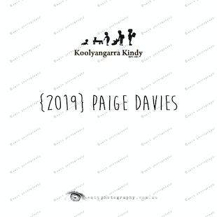 {2019} PAIGE DAVIES