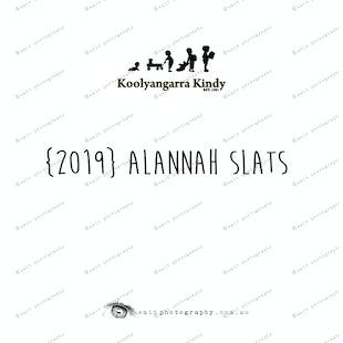 {2019} ALANNAH SLATS