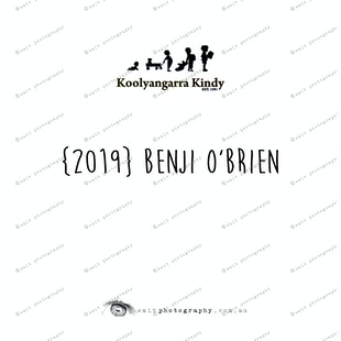 {2019} BENJI O'BRIEN