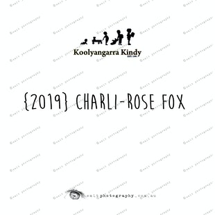 {2019} CHARLI-ROSE FOX