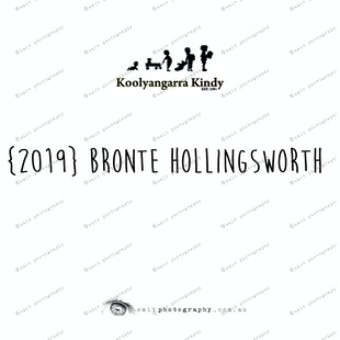 {2019} BRONTE HOLLINGSWORTH