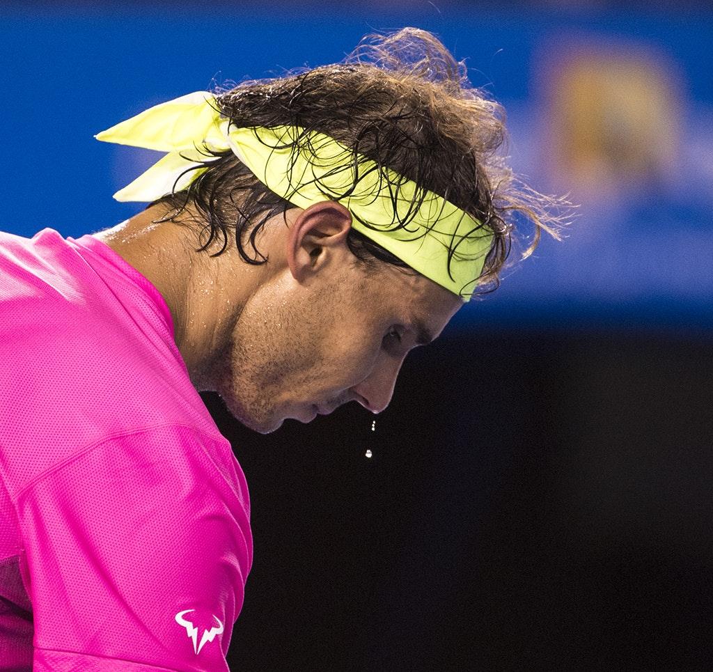 rafa2 - 2015 21st January. Day 3 of the Australian Open Tennis. Rafael Nadal (SPA) defeats Tim Smyczek (USA) 6-2 3-6 7-6 6-3 7-5. Nadal in action