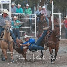 Narrandera Rodeo 2019 - Steer Wrestling - Sect 1