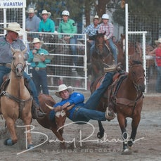 Narrandera Rodeo 2019 - Steer Wrestling - Sect 1