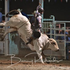 Narrandera Rodeo 2019 - 2nd Div Bull Ride - Sect 2