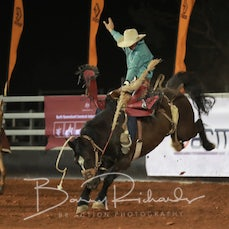 Cloncurry Rodeo 2019 - Sat Evening - Open Saddle Bronc - Sect 4