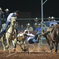 Cloncurry Rodeo 2019 - Sat Evening Performance - Steer Wrestling - Sect 3