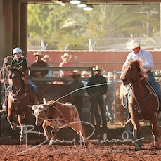 Mt Isa Rodeo 2019 - Thursday - Junior Team Roping - Sect 1