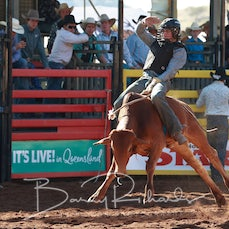 Mt Isa Rodeo 2019 - Thursday - Junior Steer Ride - Sect 1