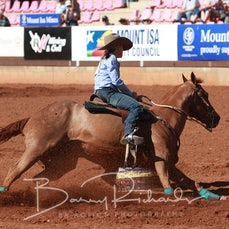 Mt Isa Rodeo 2019 - Fri Morning - Barrel Race - Sect 1