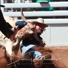 Mt Isa Rodeo 2019 - Fri Morning - Steer Wrestling - Sect 2