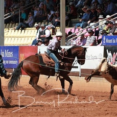Mt Isa Rodeo 2019 - Fri Morning - Jnr Team Roping - Sect 2