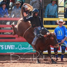 Mt Isa Rodeo 2019 - Fri Morning Session - Jnr Steer Ride - Sect 2