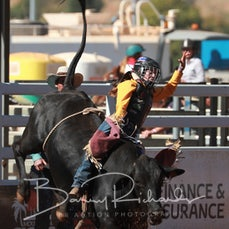 Mt Isa Rodeo 2019 - Fri Afternoon - Jnr Steer Ride - Sect 3