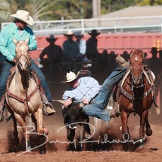 Mt Isa Rodeo 2019 - Fri Afternoon - Steer Wrestling - Sect 3