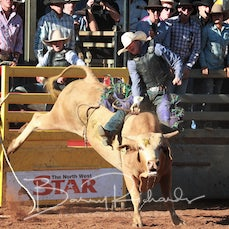 Mt Isa Rodeo 2019 - Fri Afternon - 2nd Div Bull Ride - Sect 2
